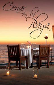 cena romantica en la playa cancun, ideas para cenar en la playa, como preparar una cena romantica en la playa, vacaciones romanticas,