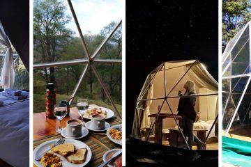 Glamping Argentina, casa domo argentina, natura glamping booking, vacaciones patagonia