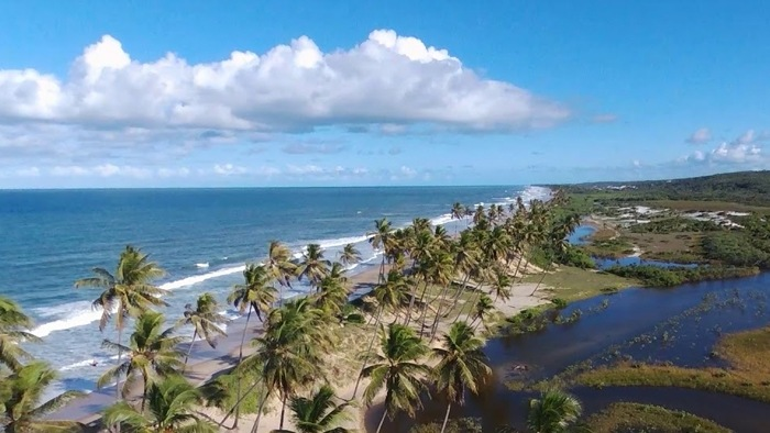 Playas nudistas de brasil, playa Massarandupió