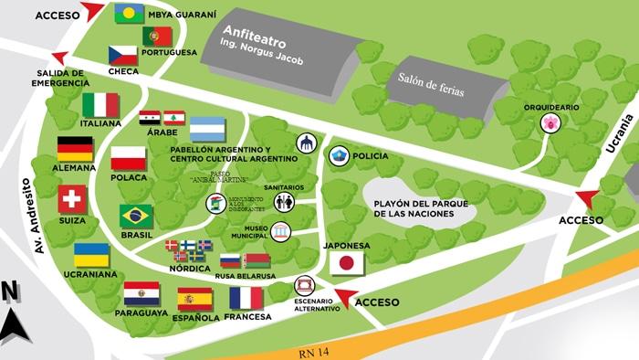 fiesta nacional del inmigrante, parque de las naciones mapa