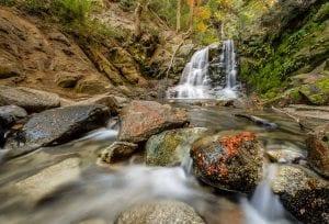 Cascada Inacayal, foto, villa la angostura, arrayán, lago, puerto manzano, patagonia, defiestaenamerica.com